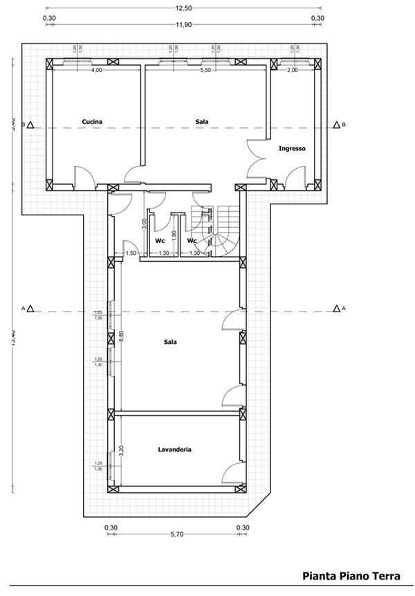 Progettazione di una piccola struttura adibita a bed and for Progetti di townhouse e planimetrie