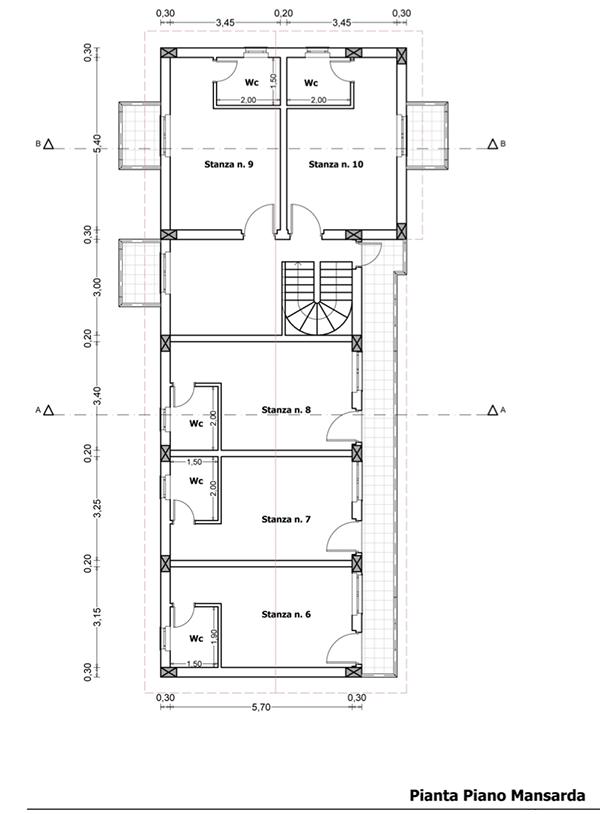 progettazione di una piccola struttura adibita a bed and