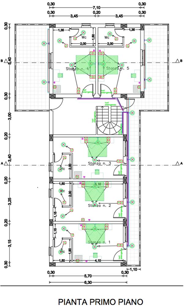 Progettazione di una piccola struttura adibita a bed and for Progettazione di piani di pavimento capannone