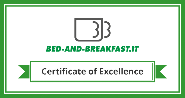 Certificate of excellence of Bed-and-breakfast.it