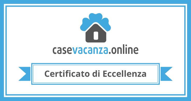 Certificato d'eccellenza Casevacanze.online